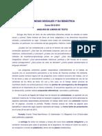 Análisis de libros de texto 2012-2013 SP