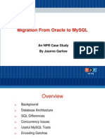 Migration From Oracle to MySQL _ an NPR Case Study Presentation