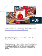 "Dzongsar Jamyang Khyentse Rinpoche on ""ADVICE ON NGONDRO"" (Rio de Janeiro, 2008) transcibed from podcast."