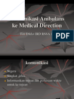 Communication to Medical Direction