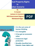 my lecture on Intellectual Property Rights in India
