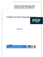 Guidelines for Degree Programme Students - July 2011