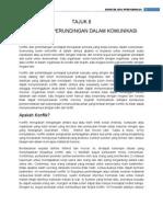 TAJUK 8 - Konflik Dan Perundingan Dalam Komunikasi