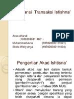 Akuntansi  Transaksi Istishna'