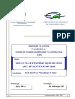 DST_2010_Mise en place d'un proxy SQUID sécurisé avec authentification LDAP. ESMT Téléinformatique