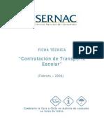 UNIDAD 5 Ficha Técnica de Servicio Transporte Escolar