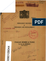 Italian Bombs and Fuzes by Royal Engineers UK 1948