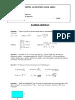 4ª lista de Cálculo Fundamental