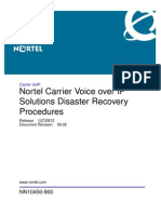 CVoIP Solutions Disaster Recovery Procedures-CVM12-NN10450-900_06.02