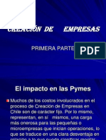 CREACIÓN  DE      EMPRESAS   PRIMERA PARTE