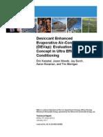 Desiccant Enhanced Evaporative Air Conditioning