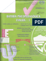 BATERÍA PSICOPEDAGÓGICA EVALUA I
