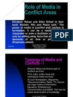 Role of Media in Conflict Areas