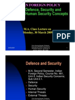 Defence, Security and Human Security Concepts