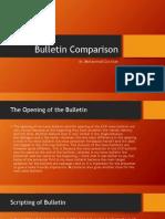 Bulletin Comparison