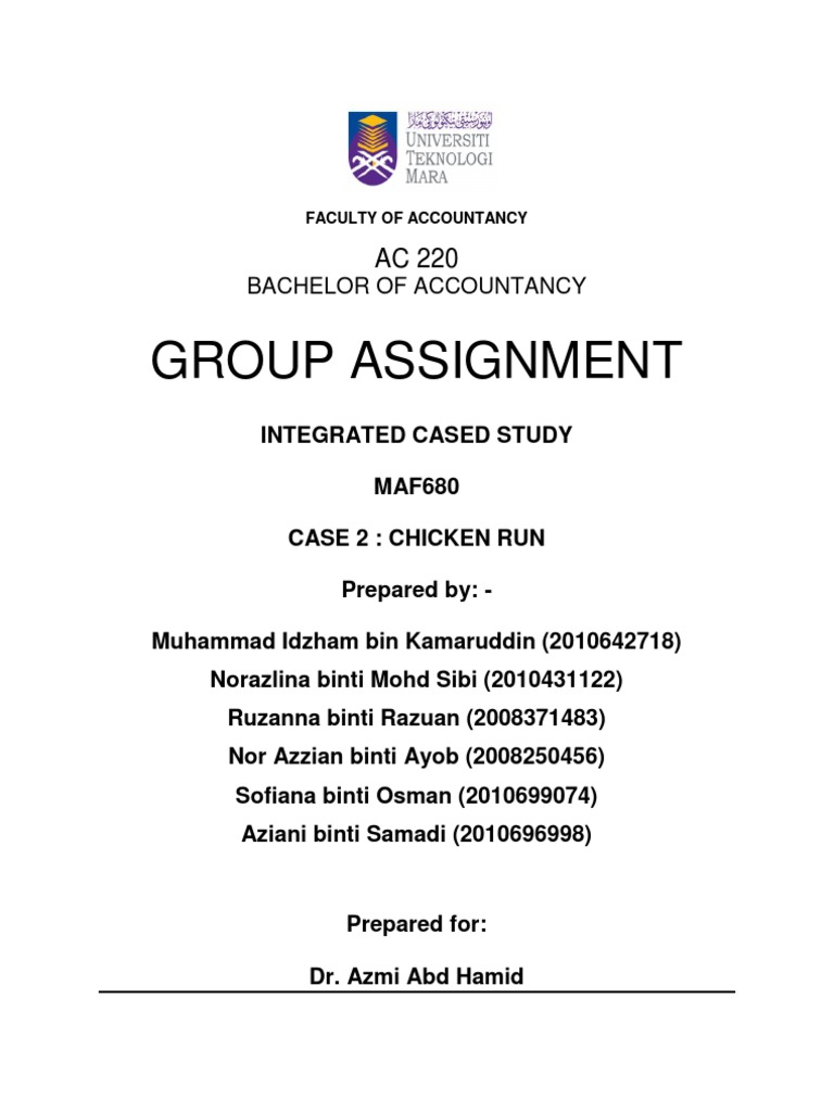 chicken run case study maf 680