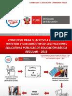 CONCURSO PARA EL ACCESO A CARGOS DE DIRECTOR Y SUB DIRECTOR DE INSTITUCIONES EDUCATIVAS PÚBLICAS DE EDUCACIÓN BÁSICA REGULAR - 2013.pdf