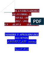 Analisis Del Sistema de Juego 1-4-3-3 Trabajo Del Alumno Abdellah Driba Curso Nivel III