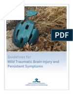 Guidelines for Mild Traumatic Brain Injury and Persistent Symptoms