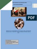 Impacto Del Programas Sociales en La Desnutricion de La Poblacion Peruana Basado en La Teoria