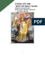 St Thomas Aquinas on the Roman Rite of Holy Mass