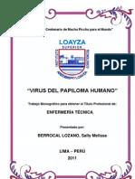 Trabajo de Virus Del Papiloma Humano(Sally Mel)