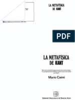 59259740 Caimi La Metafisica de Kant EUDEBA OCR Opt