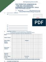 MSc Full Time Application Form (1)