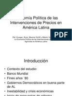 Economia Politica de Las Intervenciones de Precios