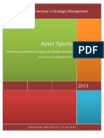 AMER SPORTS - Strategic Analysis