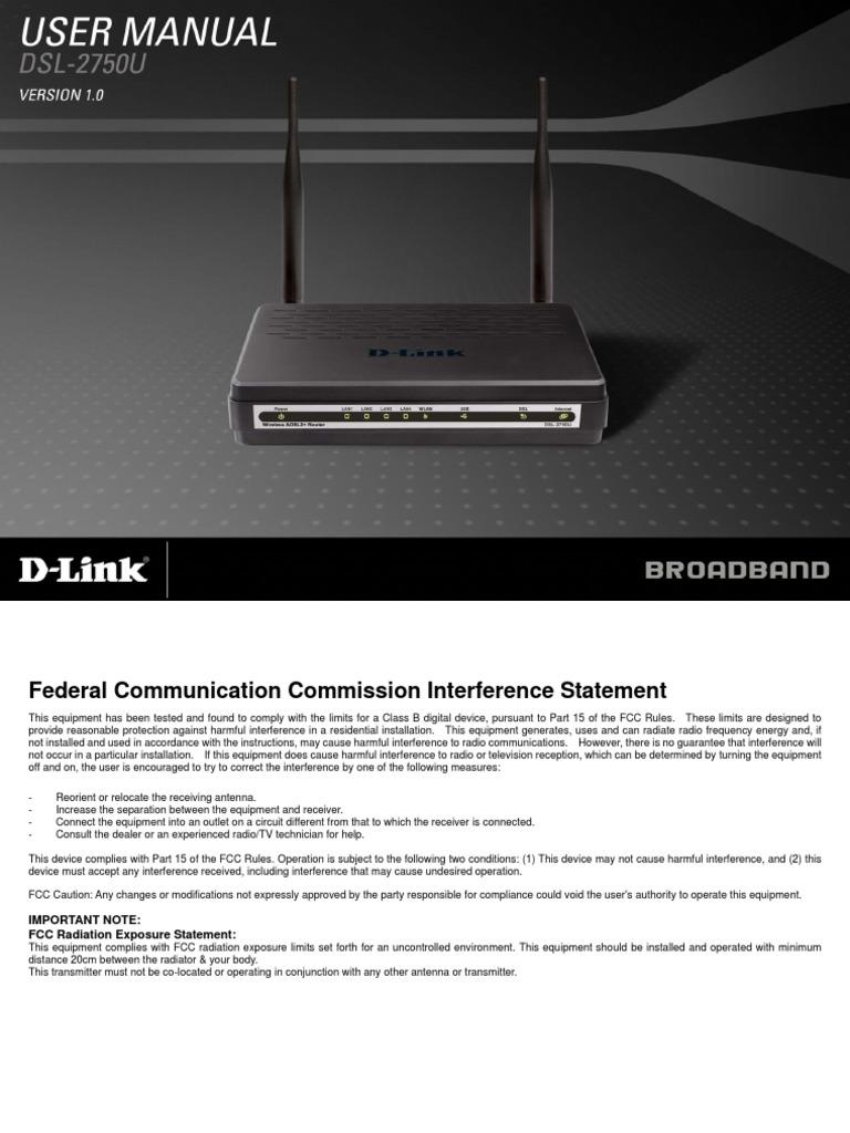 DSL-2750U_T1_Manual_v1 00(TH) | Ip Address | Wireless Lan
