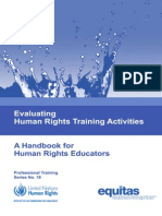 Evaluating Human Rights Training Activities,