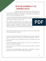 Concepto de Empresa y Su Importancia