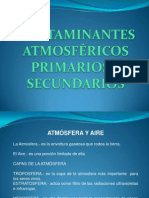 Eco--contaminantes Atm Primarios y Secundarios