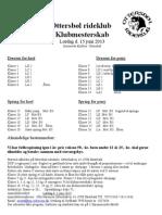 Klubmesterskab Propositioner 2013
