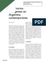 Repertorios insurgentes en Argentina contemporánea. Auyero, Javier