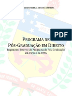 Regimento Interno Do PPGD