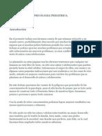 Introducción a psicologia pediatrica