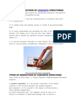 Need for Inspection of Concrete Structures