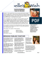 Anabelles Wish Newsletter Spring 2013