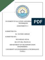 Mujaddad Pavement Assignment