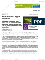 Inside Biggest Hedge Fund Dalio 31Mar09