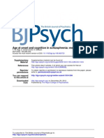 Age at Onset and Cognition in Schizo