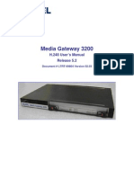 Media Gateway 3200 H.248 User's Manual Release 5.2