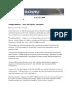 Congressman Vern Buchanan; Obama Budget Op-ed