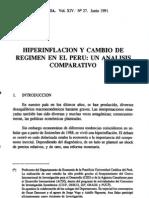 Análisis de Hiperinflación en el Perú