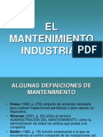 El Mantenimiento Industrial