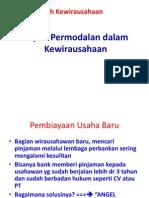 2. Aspek Permodalan Dalam Kewirausahaan