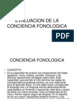 Evaluacion de La Conciencia Fonologica