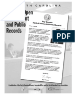 NC Guide to Open Gov't and Public Records